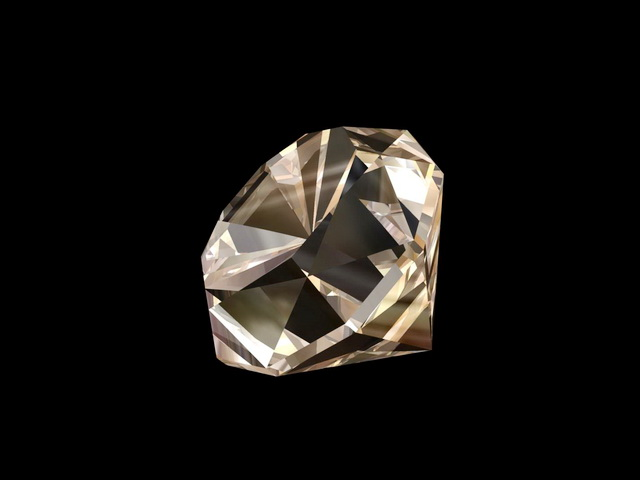 Diamond Gem 3d rendering