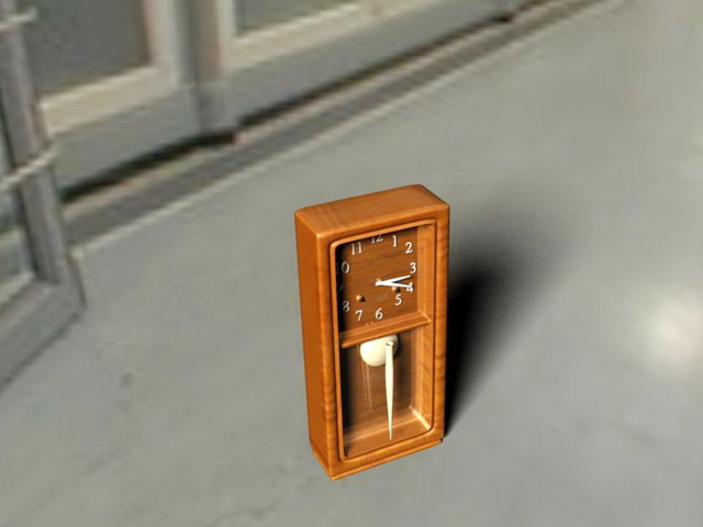 Antique Mantel Clock 3d rendering