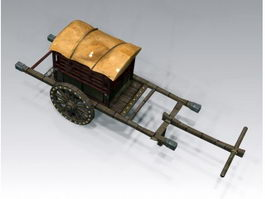 Medieval Wagon 3d preview