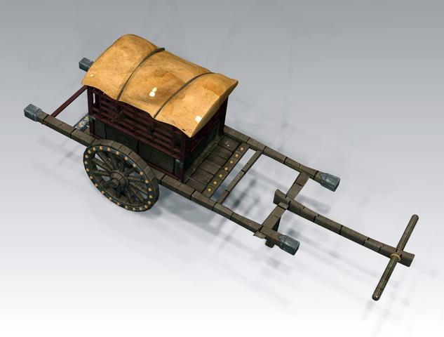 Medieval Wagon 3d rendering