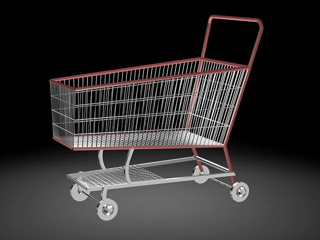 Shopping Cart 3d rendering