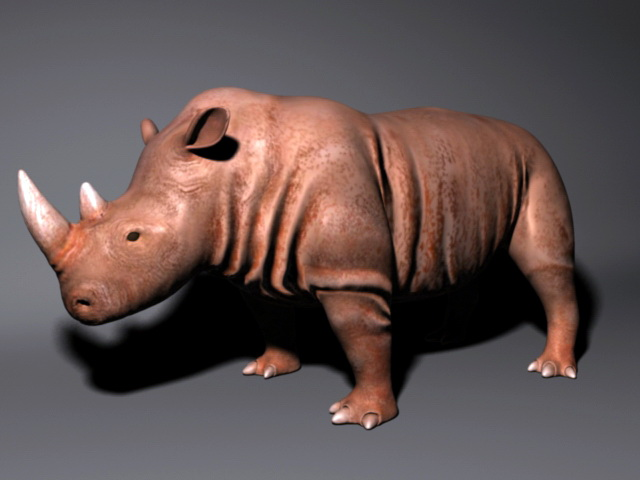 Brown Rhino 3d rendering