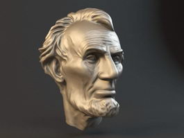Abraham Lincoln Statue Head 3d preview