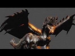 Alatreon Dragon 3d model preview