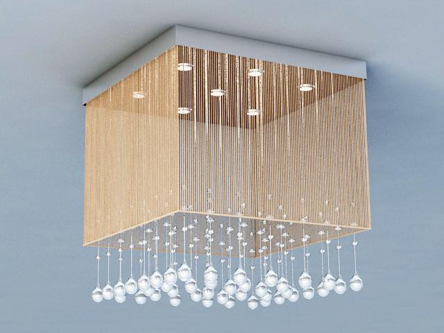 Flush Ceiling Chandelier 3d rendering