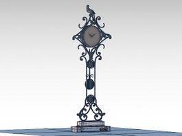 Decorative Floor Clock 3d preview