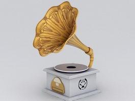 Gramophone Phonograph 3d preview