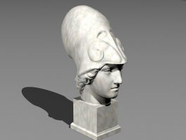 Athena Statue Bust 3d preview