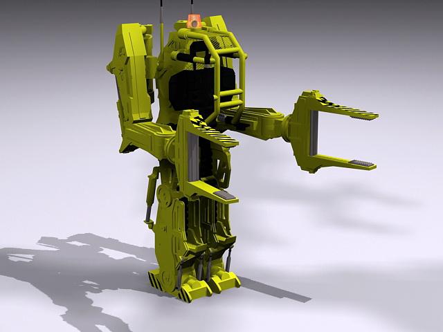 Aliens Power Loader 3d rendering