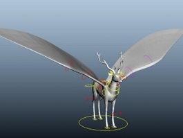 Flying Deer Rig 3d model preview