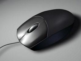 Black Computer Mouse 3d preview