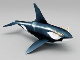 Ocean Whale 3d preview