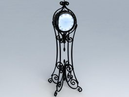 Wrought Iron Floor Clock 3d preview