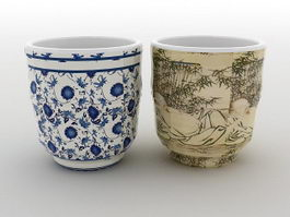Chinese Tea Mugs 3d preview