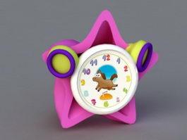 Kids Alarm Clock 3d model preview
