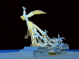 Phoenix Sculpture 3d preview