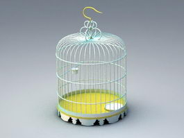 Bronze Birdcage 3d preview
