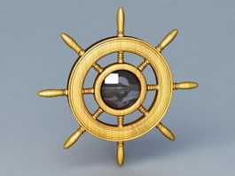Ship Wheel Decor 3d preview