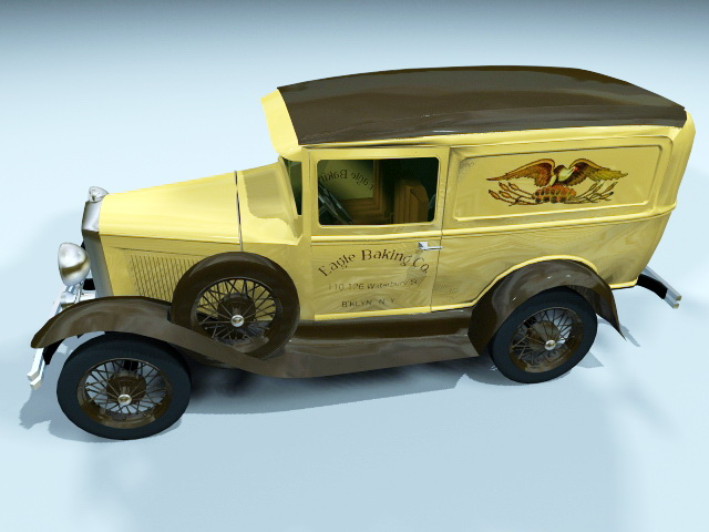 Ford Model A Tudor Sedan 3d rendering