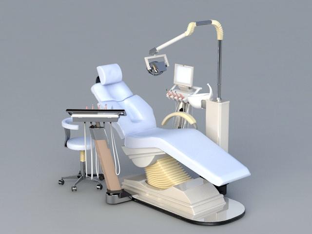 Dental Chair 3d rendering