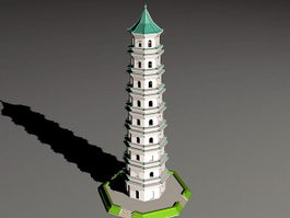 Tall Pagoda 3d preview