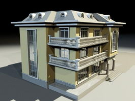 Villa Style Home 3d preview