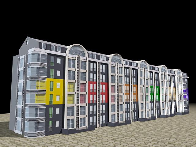 Condominium House 3d rendering