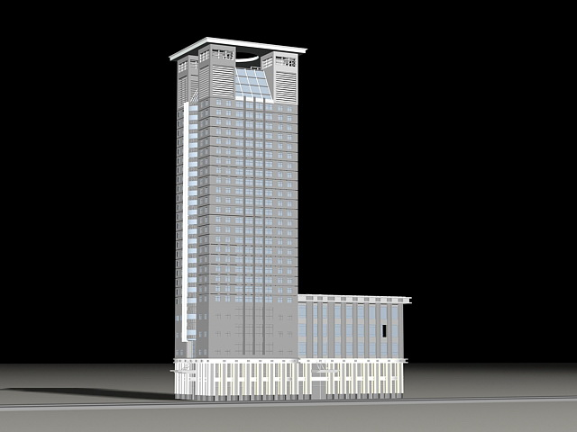 Tall Office Building 3d rendering