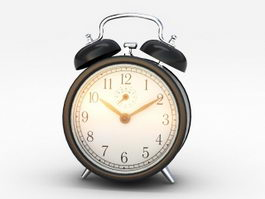 Black Bell Alarm Clock 3d preview