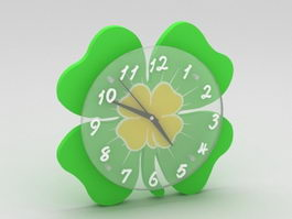 Green Wall Clock 3d preview