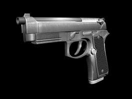 Beretta M9 Pistol 3d model preview