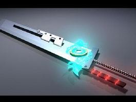 Futuristic Energy Sword 3d preview