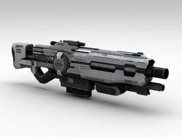 Sci-Fi Assault Rifle 3d preview