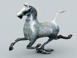 Antique Bronze Horse Statue 3d preview