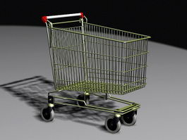 Grocery Shopping Cart 3d preview