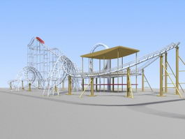 Roller Coaster 3d preview