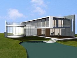 Luxury Villa House 3d preview