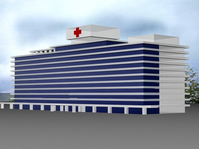 City Hospital 3d rendering