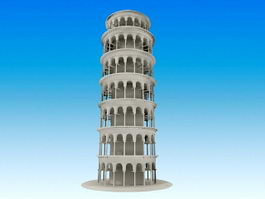 Leaning Tower of Pisa 3d preview
