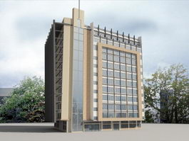 Hotel Architecture 3d preview