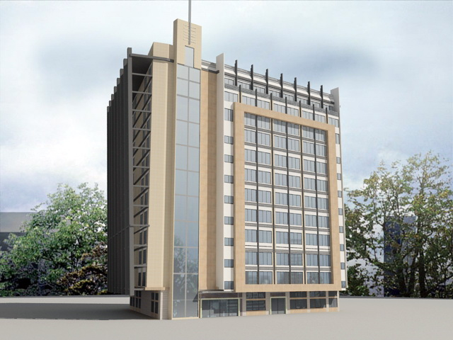 Hotel Architecture 3d rendering