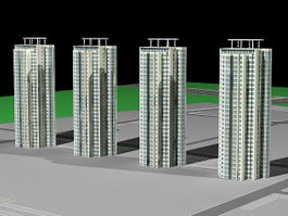 High-Rise Condominium Buildings 3d preview