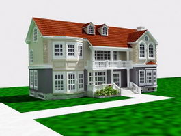 French Country Home 3d preview