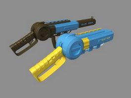 Sci-Fi Pistols 3d model preview