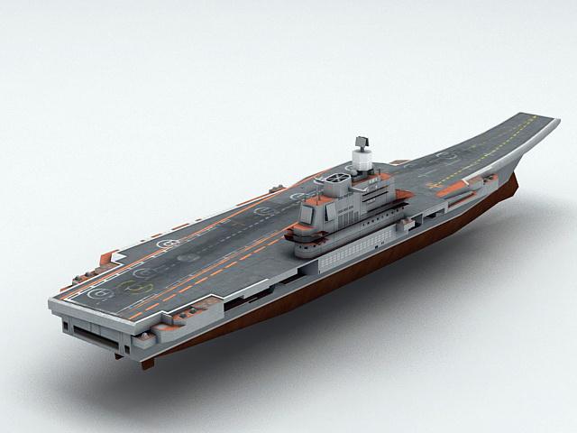 Admiral Kuznetsov Aircraft Carrier 3d rendering