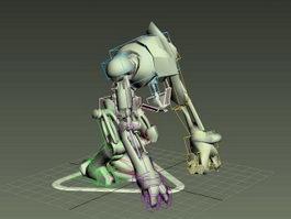 Robot Dog Rig 3d model preview