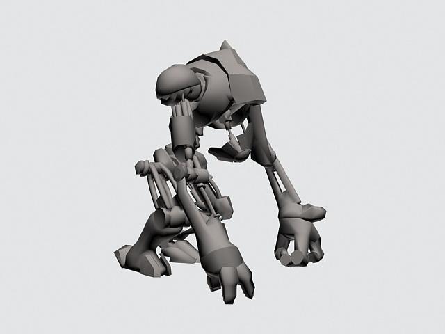Robot Dog Rig 3d rendering