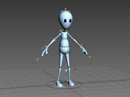 Human Cartoon Figure Rig 3d preview