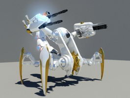 Sci-Fi Mech Scorpion 3d model preview