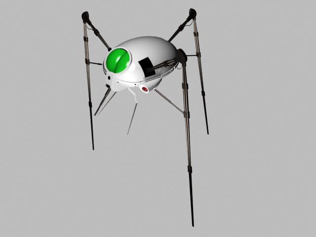 Alien Tripod Walker 3d rendering
